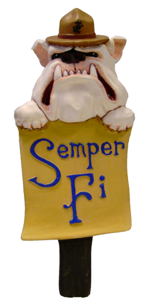 bulldog marine beer tap handle