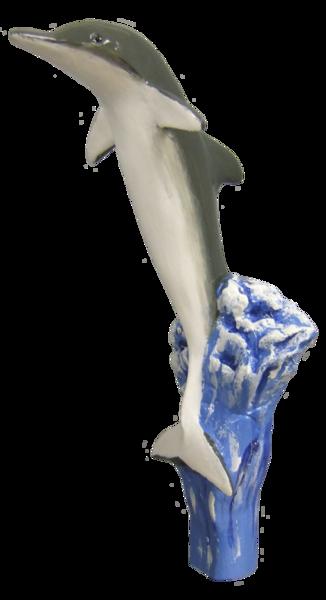 dolphin beer tap handle