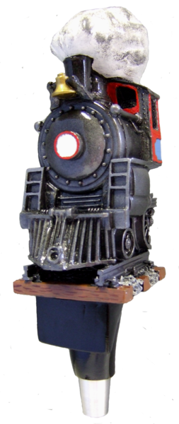 locomotive beer tap handle